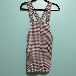 Forever 21 checkered overall dress